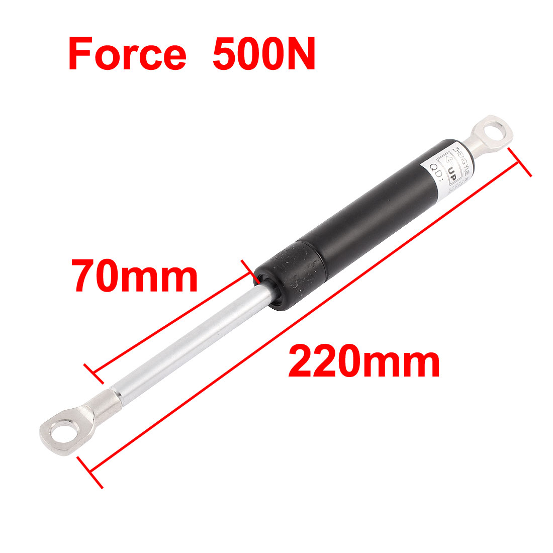 UXCELL 500N Force 220 X 70Mm Lift Support Shock Strut Arm Gas Spring Rod For Car