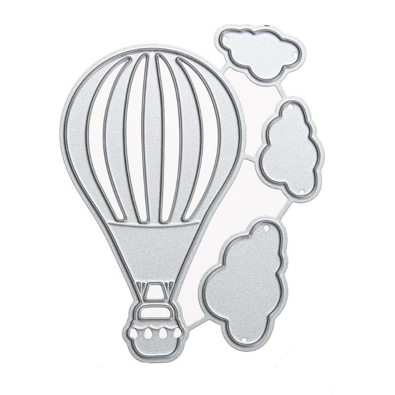 Пожарный воздушный шар, металлические штампы для скрапбукинга, тиснение, папка, подходит для резки Fustella