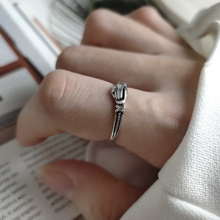 Antique 925 Sterling Silver Three Band Claddagh Puzzle Gimmel Rings StackableTiny Cartilage Fede Ring Wedding Bands for Women