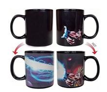 Kamehameha Goku Mug Heat Reactive Coffee Cup Dragon Ball Z Colored Changing Ceramic Magic Cups