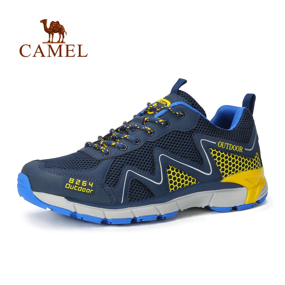 CAMEL Men Women Outdoor Sports Shoes Summer Mesh Breathable Soft Shock Absorption Trekking Sneakers