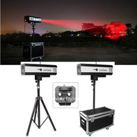 2 unit 330W Fresnel COB LED Follow Spot Focus with flight case package