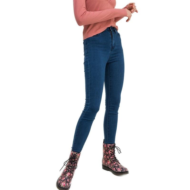 Jeans befree for female cotton pants women clothes apparel  1811311752-104 TmallFS bazaleas 2017 knee hole denim jean women bottom female embroidered flower loose boyfriend pants ripped jeans for women