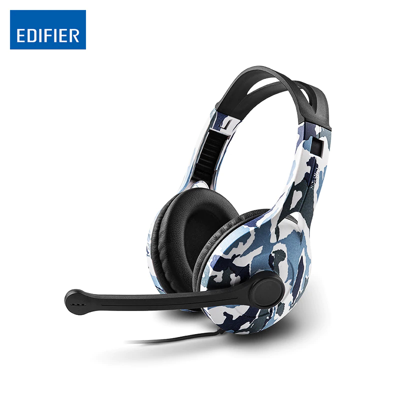 Adjustable headset EDIFIER K800 Over Ear Headphones Flexible Comfortable Over Ear Gaming Headset Noise Canceling gaming headset led light glow noise cancealing pc gamer super bass headband headphones with microphone for computer pc