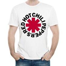 RHCP T Shirt White Color Mens Fashion Print Short Sleeve Red hot Chili Peppers T-shirt Tops Tees tshirt Band