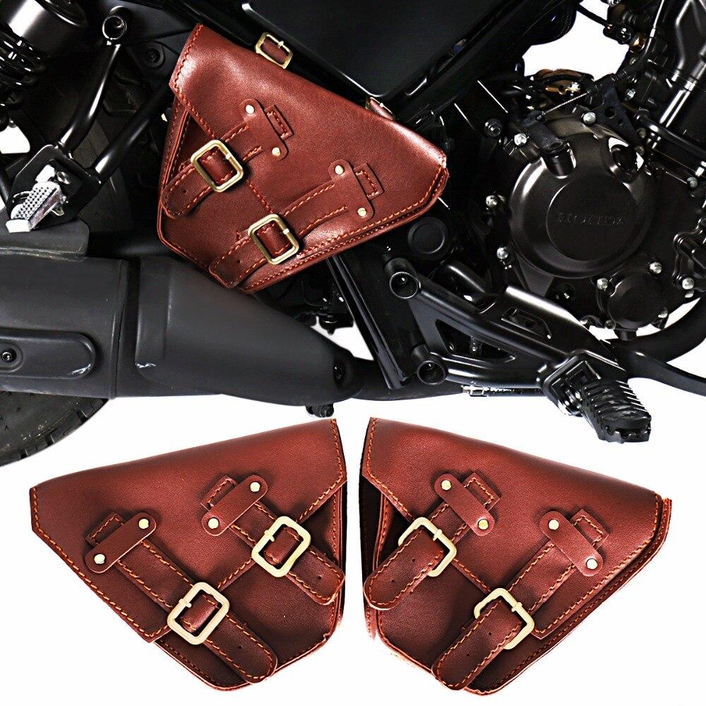 Left Right Fairing Brown Saddle Bags For Honda 2017 2018 Rebel CMX 300 500 ABS Models
