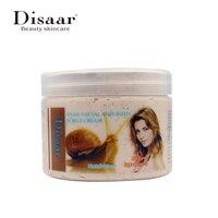 Disaar Snail Essencial Whitening Exfoliating Cream Body Face Scrub Massager Body Skin Care Shrink Pores Dead