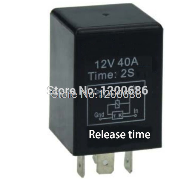 Automotive 12V Time Delay Relay SPDT 2 second delay release off relay output turn off after turn off switch lot5 new 12 volt 30 40 amp spdt automotive relay with wires
