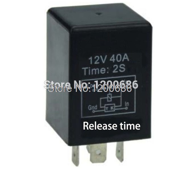 Automotive 12v Time Delay Relay Spdt 2 Second Delay Release Off Relay Output Turn Off After Turn