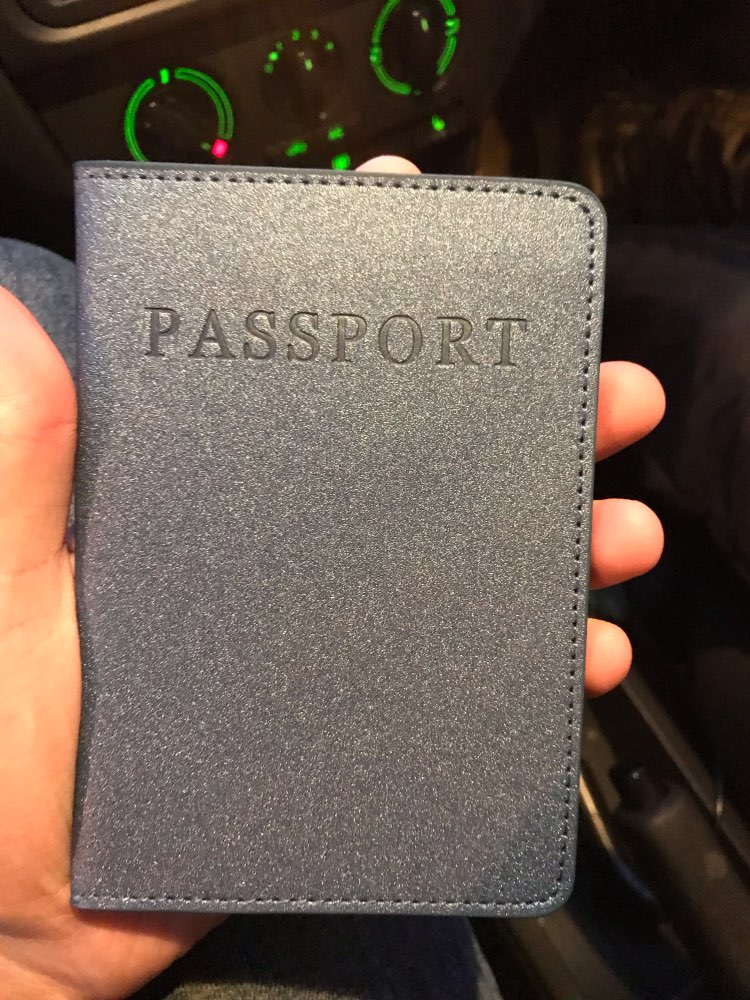 Travel Accessories PU Leather Men Passport Holder Function Pass Port Cover Storage Organizer ID Card Wallet Case Busines Credit photo review