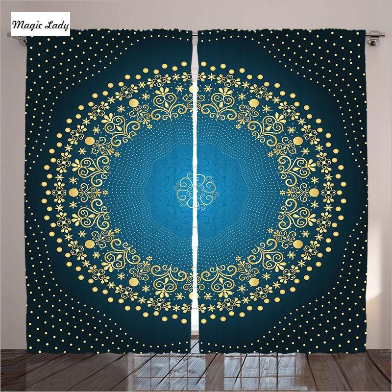 Curtains heavy mandala circular indian decor oriental - Curtain ideas for living room india ...