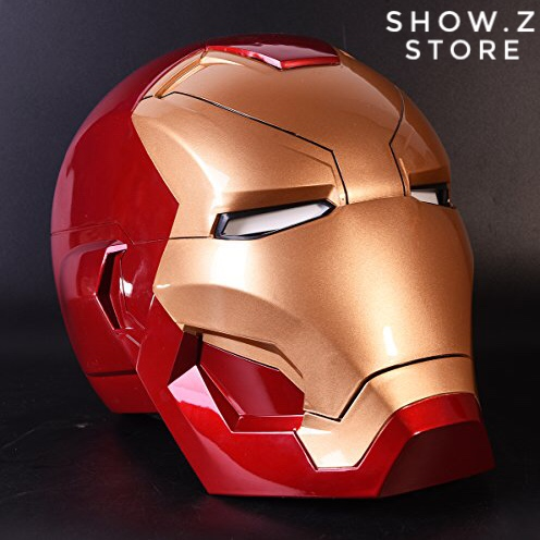 [Remote Version] Cattoys 1:1 Full Scale Iron Man Wearable ABS Helmet Mark 46 Mark 46 MK46 Mask Replica with LED Light free shipping iron man motorcycle helmet mask tony stark mark 7 cosplay mask with led light
