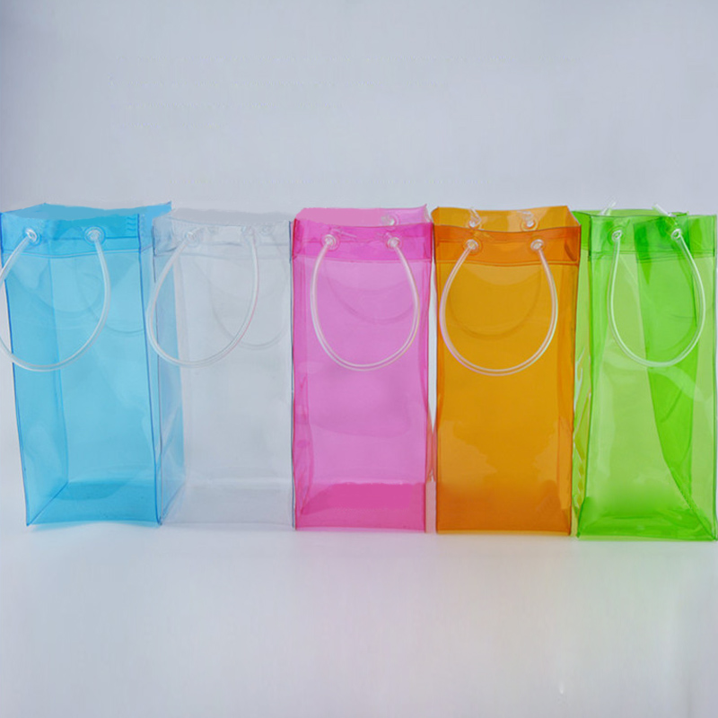 Wine Beer Champagne Bucket Drink Ice Bag Bottle Cooler Chiller Foldable Carrier Convenience with two handles