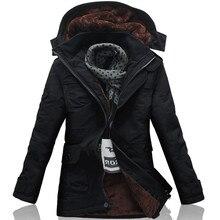 Russian style winter heavy parkas men jacket coat top warm long hooded casual warm snow windbreaker cotton-padded male jacket