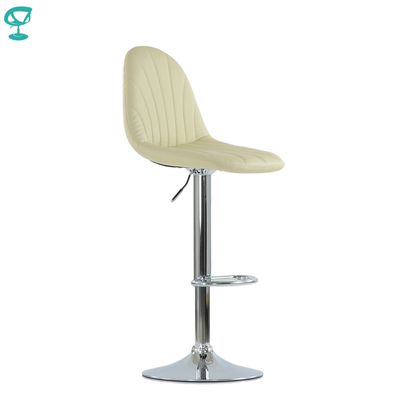 N95CrPuBeige Barneo N-95 PU Leather Kitchen Breakfast Bar Stool Swivel Bar Chair Beige Color Free Shipping In Russia