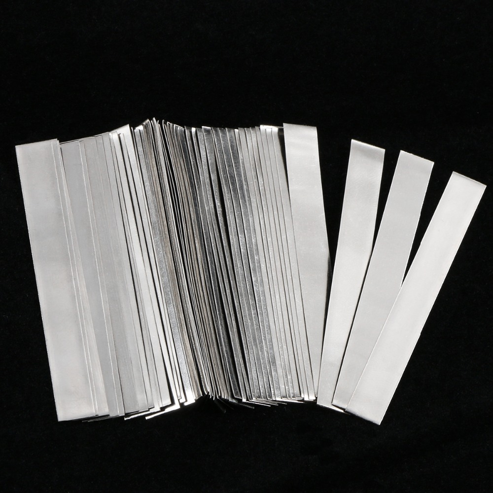 50 Pcs Pure Nickel Strip 0.15 X 6 X 50 Mm Soldering Tab For 18650 Lithium Battery Welding Ni200