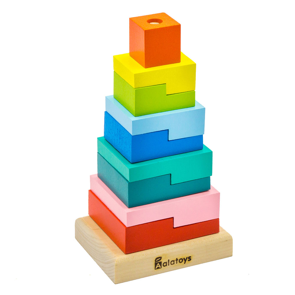 Magic Cubes Alatoys PCT01 play building block set pyramid cube toys for boys girls abc magic cube shape coin storage box