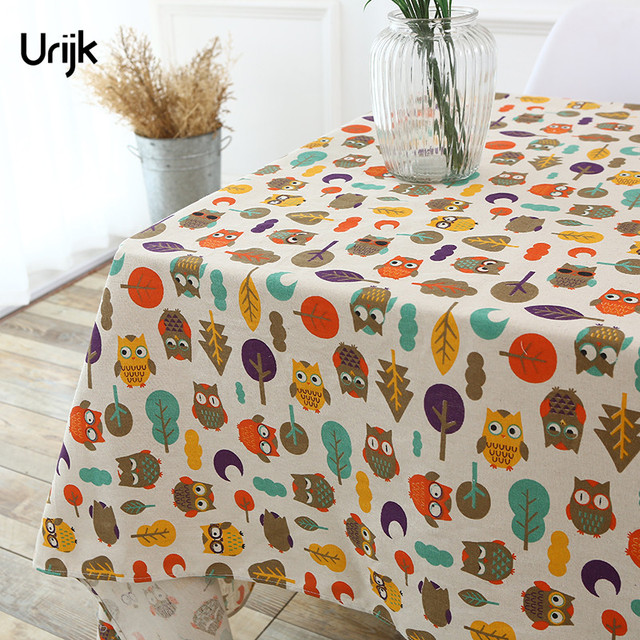 Merveilleux Urijk 1PC Colorful Home Table Cloth Cute Owl Pattern Printed Tablecloth For  Dinner Table Rectangular Cotton