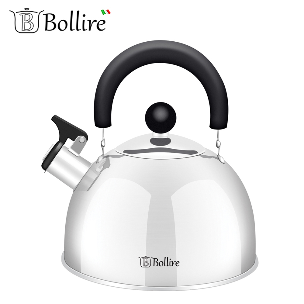 Water Kettles BOLLIRE BR-3001 teapot with a whistle cookware for kitchen devices household