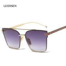 Cat eye Women Men Sunglasses 2017 New Brand Design Mirror Flat Vintage Cateye Fashion sun glasses lady Driving Eyewear UV400