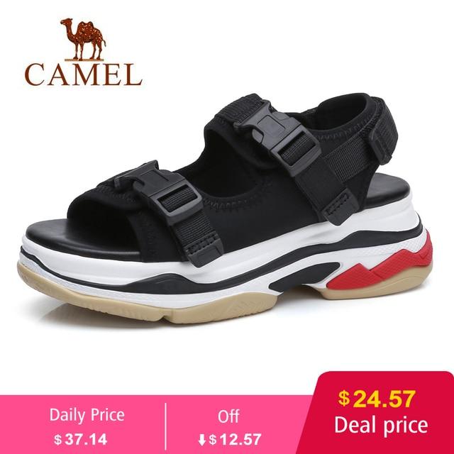 DEVE Rahat Sandalet Yüksek Rise Toka Düz Vahşi Nefes Ayakkabı Kadın 2019 Yaz Yeni Takozlar Sandalet Moda Sapato Feminino