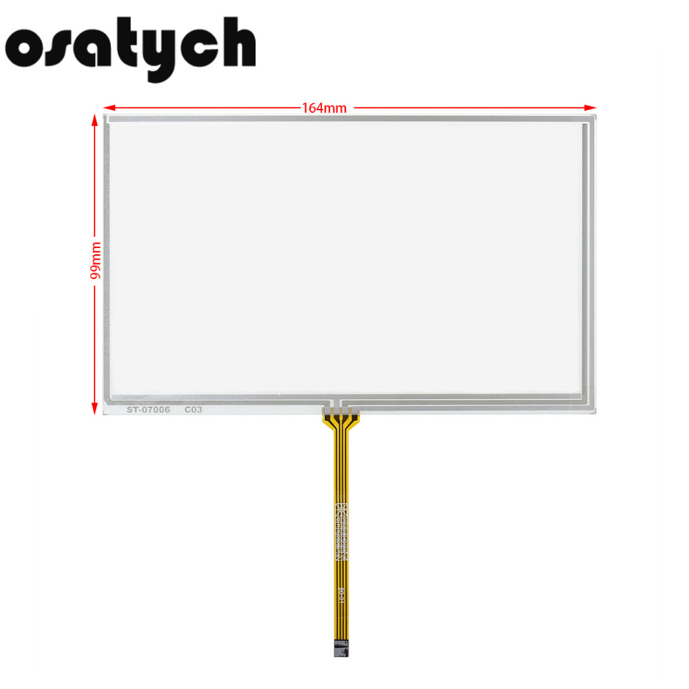 New 7inch 4Wires Resistive Touch Screen For Car DVD Or Use On Bable 164*99mm Panel Glass 164mm*99mm 99*164mm 99mm*164mm