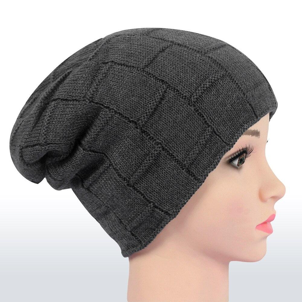 7b2097a789d91 2018 Mens Winter Hat Casual Brand Knitted Ladies Hats Beanies Stocking Hat  Plus Velvet Rasta Cap Skull Bonnet Hats For Men