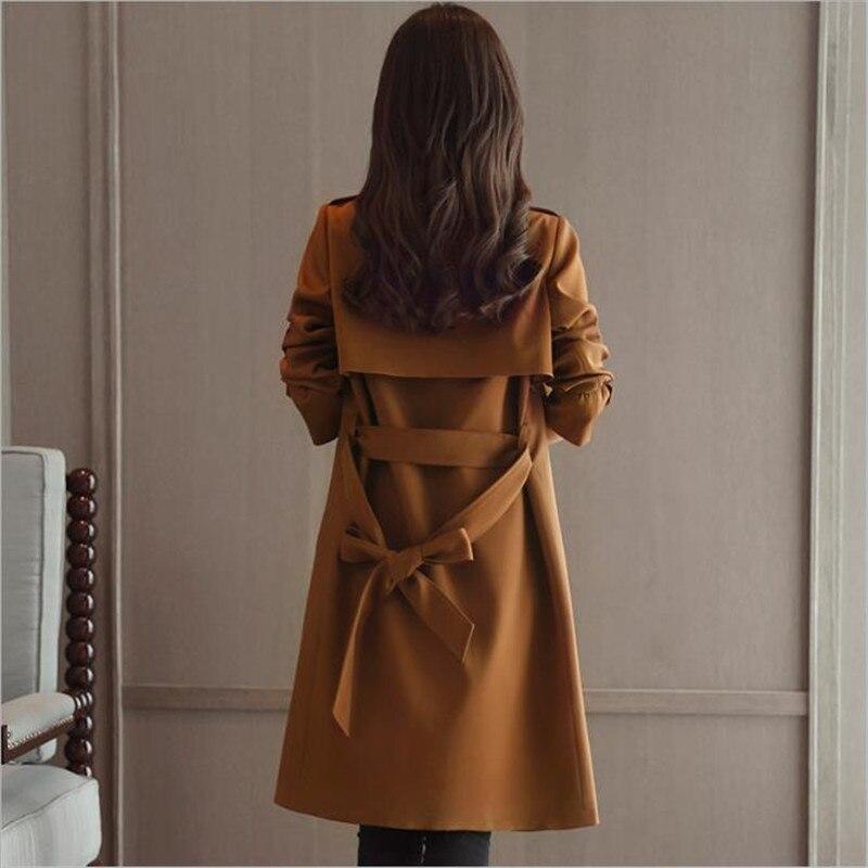 Automne Hiver Manteau Cm2084 Vintage Laine Black brown Coupe Cape Noir Élégant Dames Outwear Femmes 2018 Ensemble Manteaux vent Long Dentelle up Fqd5B