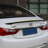 Para hyundai sonata 2011 2012 2013 abs plástico tronco traseiro boot asa sem pintura primer cor traseiro spoiler