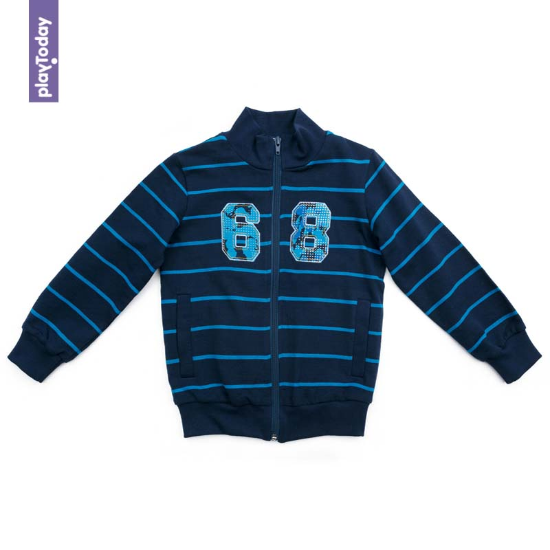 Hoodies and Sweatshirts PLAYTODAY for boys 371164 Children clothes kids clothes black lantern sleeves sweatshirts