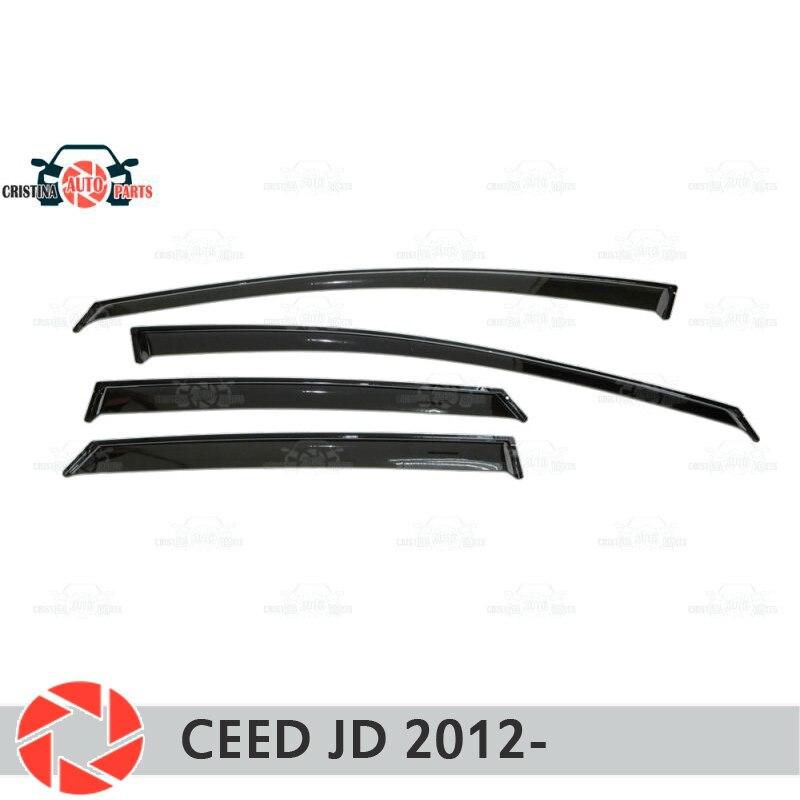 Finestra deflettore per Kia Ceed JD 2012-pioggia deflettore sporcizia protezione accessori della decorazione stile auto stampaggio