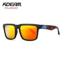 KDEAM Latido Del Corazón Diseño Súper Nuevo Gafas de Sol Cuadradas gafas de Sol Hombres gafas Mujeres Red HD lente Polarizada UV400 Con Estuche rígido KD901P-C23