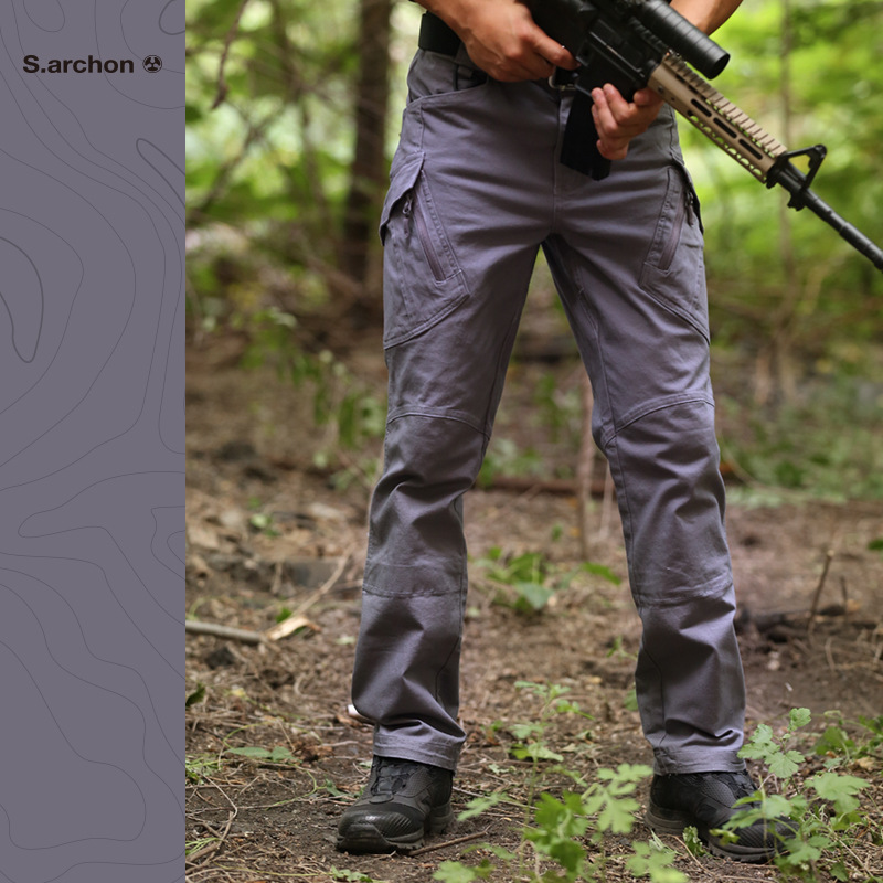 Image 5 - IX9 tactical mens pants Cargo casual Pants Combat SWAT Army  active Military work Cotton male Trousers mensCargo Pants   -