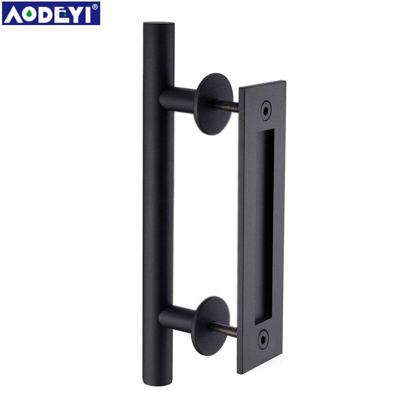 AODEYI 304 Stainless Steel Sliding Barn Door Pull Handle Wood Door ...