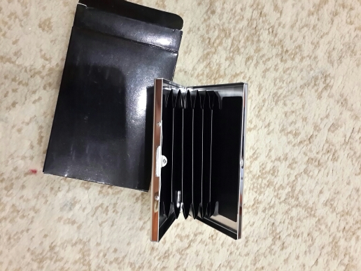 Stainless Steel RFID Blocking Credit Card Holder Wallet ID Card Case Protect Your Bank Debit, ID Cards Metal Travel Card Wallet photo review