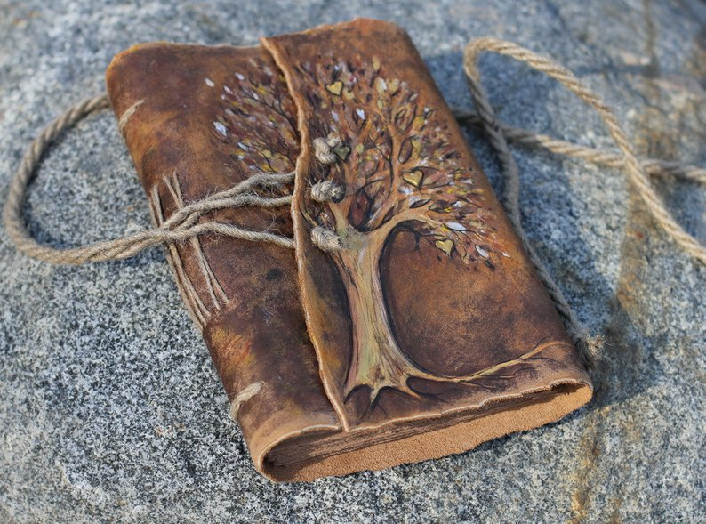 Wedding guest book Tree of Life leather journal weddings bridal shower engagement anniversary genuine leatherWedding guest book Tree of Life leather journal weddings bridal shower engagement anniversary genuine leather