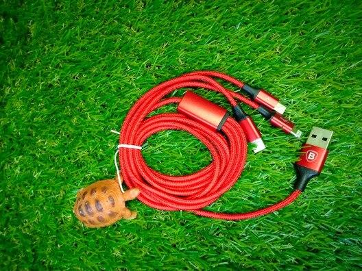 Baseus USB кабель для iPhone XS X 8 7 6 зарядки Зарядное устройство 3 в 1 Micro USB кабель для Android тип usb c Тип-c мобильный телефон кабели