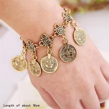 Silver Gold Color Bohemian Metal Tassel Anklet Luxury Charm Coin Ankle Bracelet For Women Jewelry Summer Style