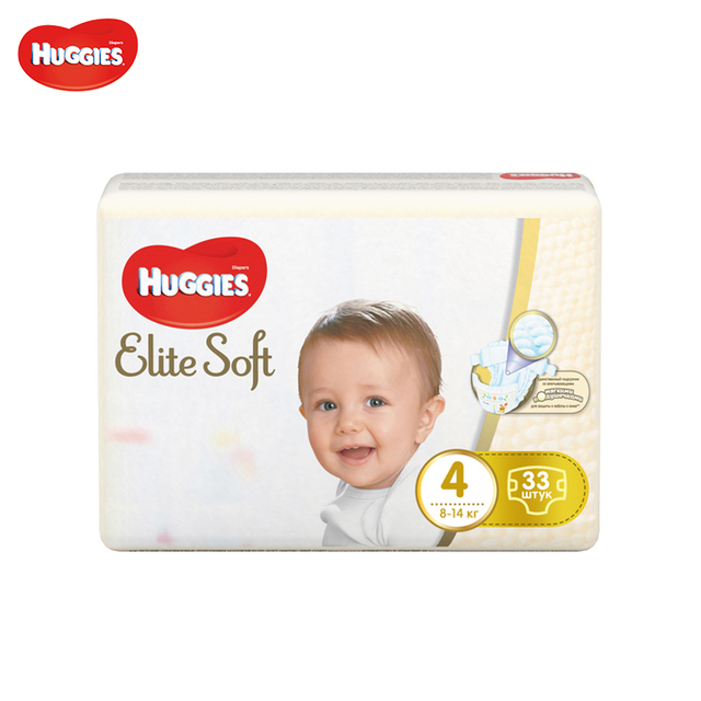 Подгузники Huggies Elite Soft Jumbo (4) 8-14 кг 33 шт.