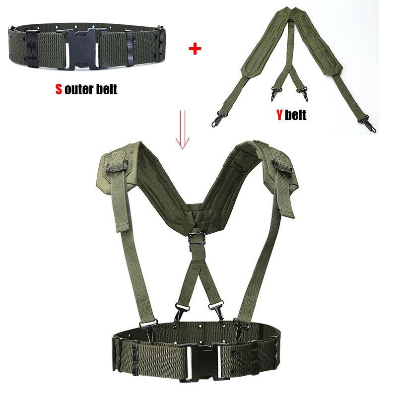Ao ar livre cinto tático cs fãs do exército cintos de combate militar caça accessorios y cinto cinta ombro peito tactico militar