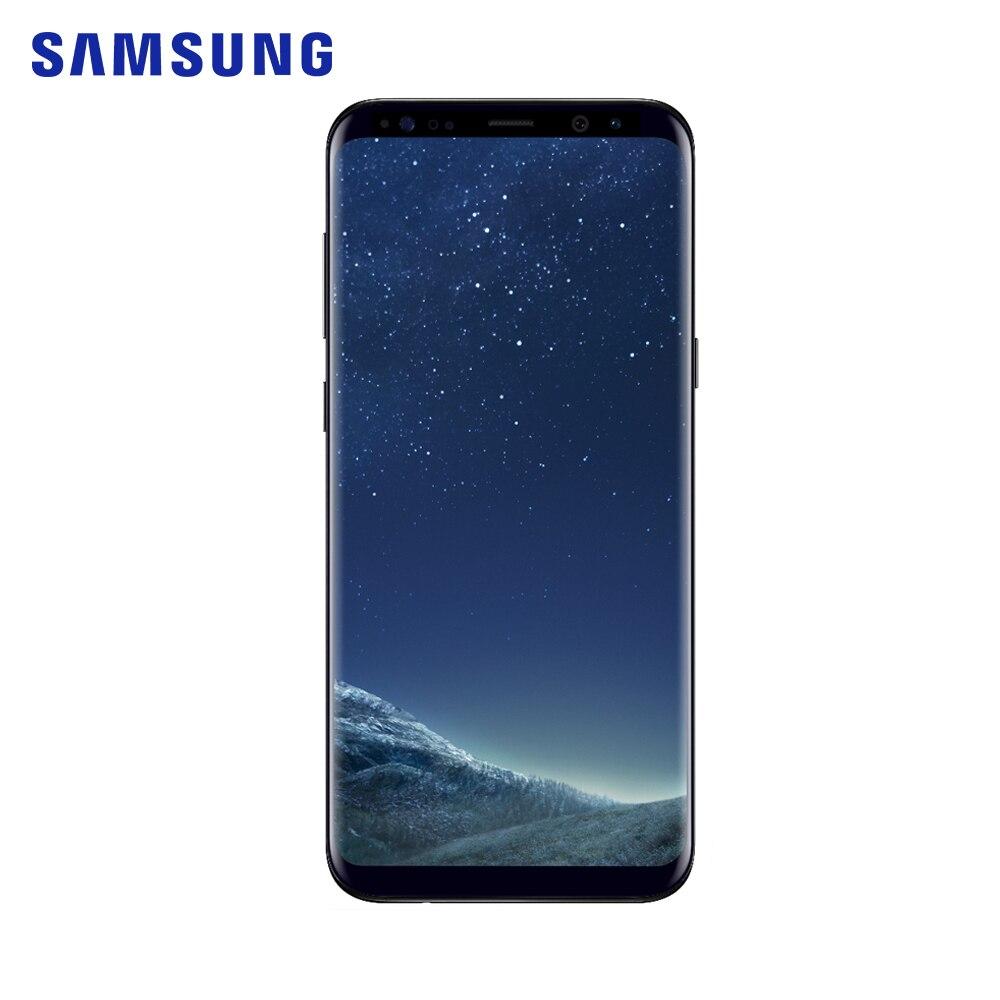 Samsung Galaxy S8 + SM-G955F 4 GB RAM 64 GB ROM octa core 6.2 pouces 12 MP smartphone 1440x2960 pixels Android 7.0 téléphone portable