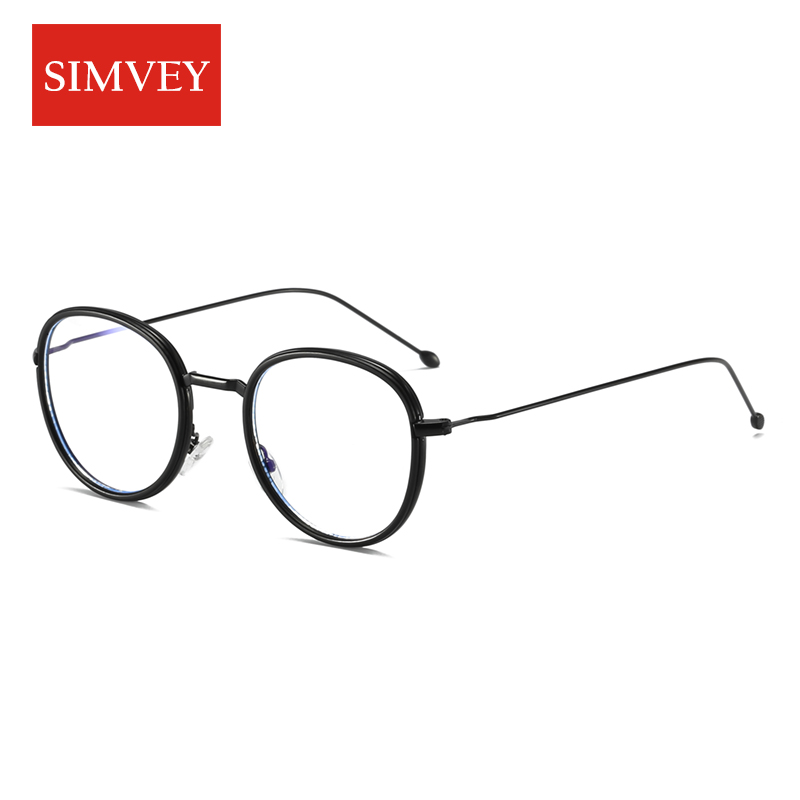 Simvey Fashion Anti Blue-Ray Radiation Protection Computer Glasses Goggles Women Men Anti Blue Light Gaming Glasses Metal Frame
