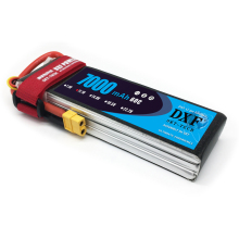 DXF Li-Poly Battery Lipo Battery 11.1V 7000mah 60C Max120C for RC Helicopter Drone Car Boat Airplane Quadcopter dxf good quality lipo battery 14 8v 4s 8000mah 30c 60c rc akku bateria for airplane helicopter boat fpv drone uav