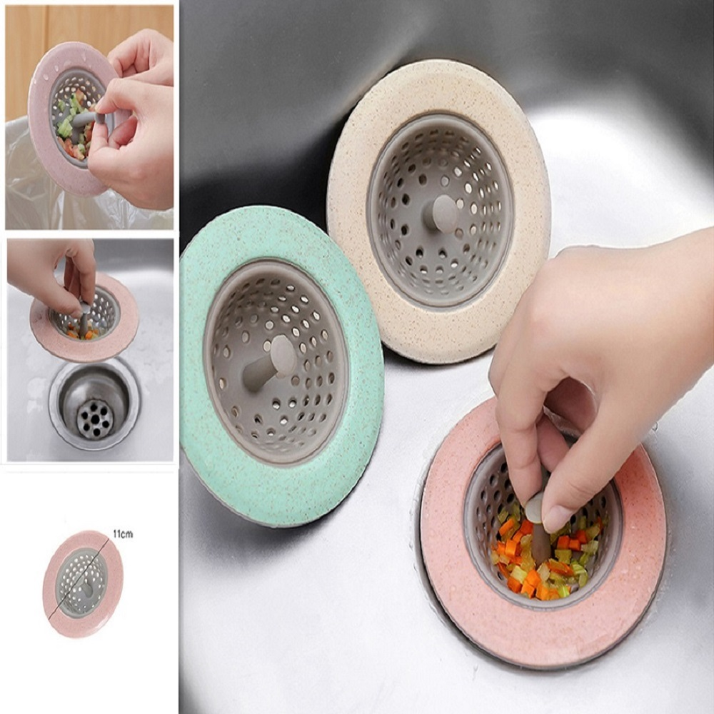 kitchen-filter-silicone-wheat-straw-strainer-bathroom-shower-drain-sink-drains-cover-sewer-hair-filter-4-color-optional