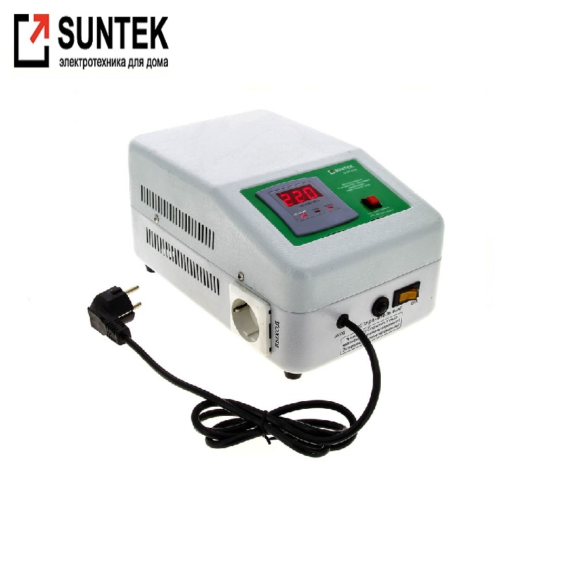 Relay voltage regulator SUNTEK 2000 VA Voltage regulator Automatic voltage regulator Power stab Constant-voltage source цена