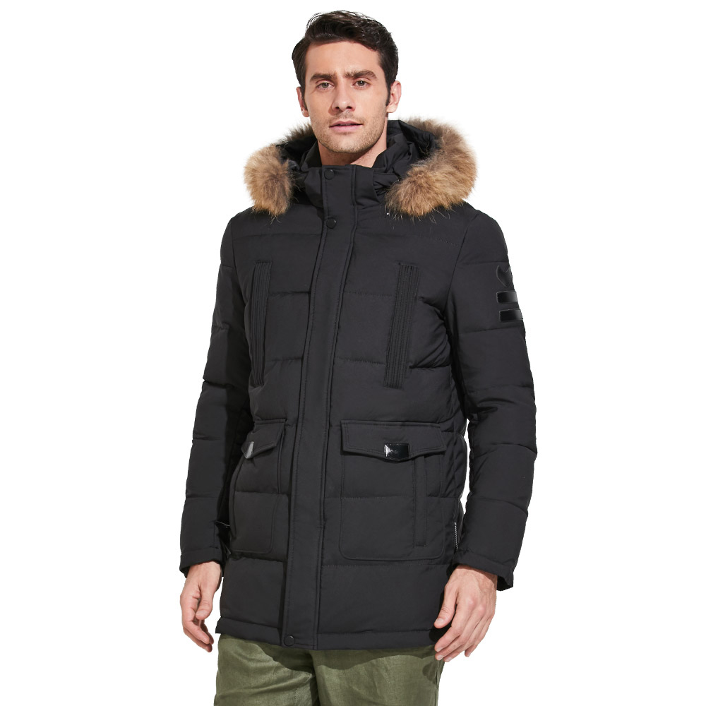 ICEbear 2018 High-quality Fashionable Winter Men's Jacket With Raccoon Fur Thick Warm Coat for Rest Excellent Parka 17MD901D icebear 2018 new winter coat women high quality parka women s fashion jacket bilateral pocket thick hooded windproof 17g666d
