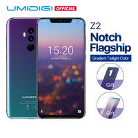 UMIDIGI Z2 Global Version Helio P23 6GB RAM 64GB ROM 6.2 FHD+ Full Screen Quad Camera Android 8.1 3850mah Face ID 4G Smartphone