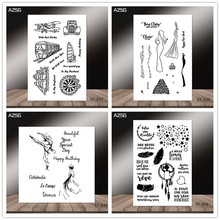 AZSG French style vehicle dancer heart-shaped Clear Stamps for DIY Scrapbooking/photo Album Decorative Craft Stamp Chapte