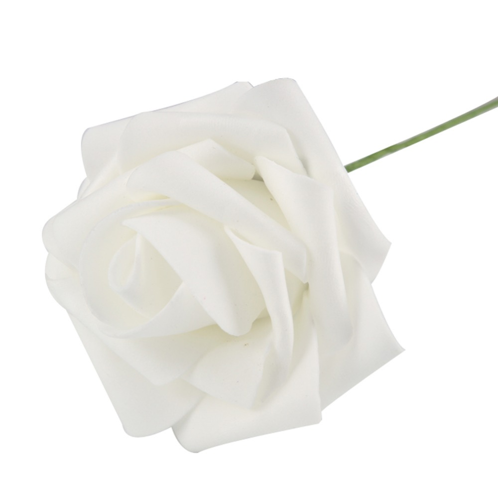 Hot Sale 1 Pc 8cm Artificial Foam Rose Flowers Wedding Decoration Hand-make Craft Scrapb ...