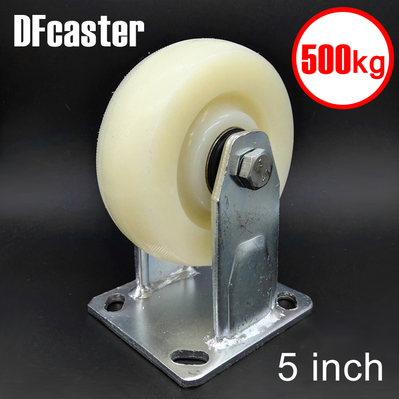 500kg Heavy Load 5 inch casters Directional Caster carrying wheel Universal Castor Double bearing Nylon Trolley Wheels new 4 swivel wheels caster industrial castor universal wheel artificial rubber heavy casters brake 360 degree rolling castors